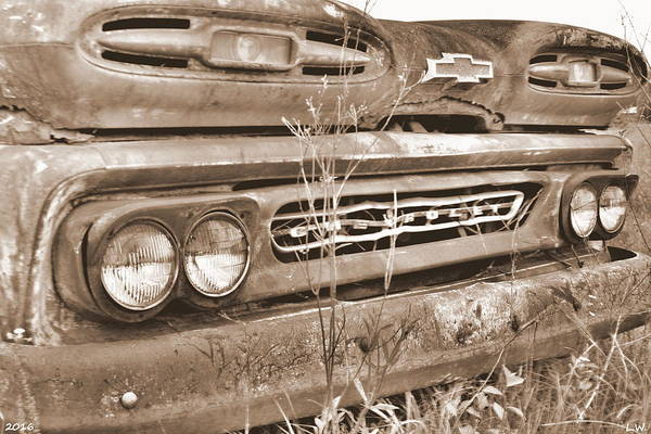 Photograph - 1961 Chevrolet Apache 10 Sepia 2 by Lisa Wooten