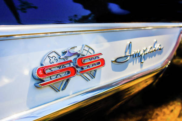 Photograph - 1961 Chevrolet Bel Air Impala Ss Bubble Top Side Emblem -0242c by Jill Reger