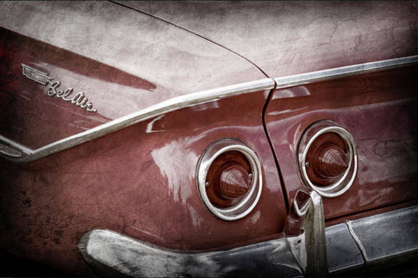 Wall Art - Photograph - 1961 Chevrolet Belair Taillight Emblem -0254ac by Jill Reger