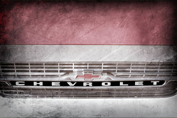 Wall Art - Photograph - 1961 Chevrolet Corvair Pickup Truck Grille Emblem -0130ac by Jill Reger