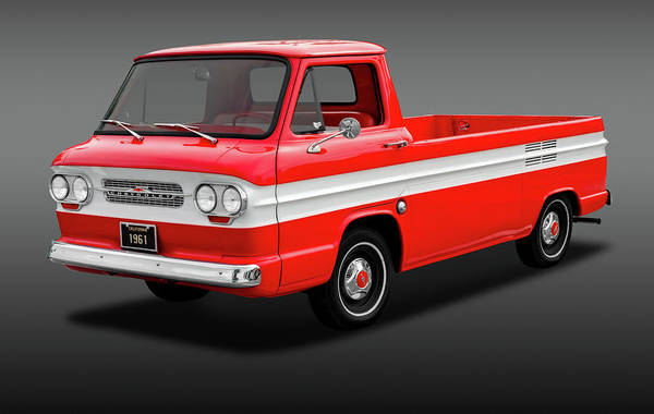 Corvair Photograph - 1961 Chevrolet Corvair Rampside Truck  -  1961chevcorvairrampsidefa172180 by Frank J Benz