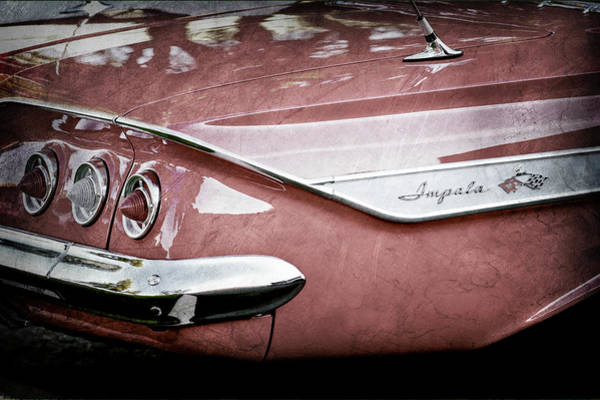 Wall Art - Photograph - 1961 Chevrolet Impala Taillight Emblem -805ac by Jill Reger