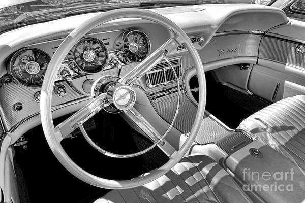 Wall Art - Photograph - 1961 Ford Thunderbird Interior  by Olivier Le Queinec