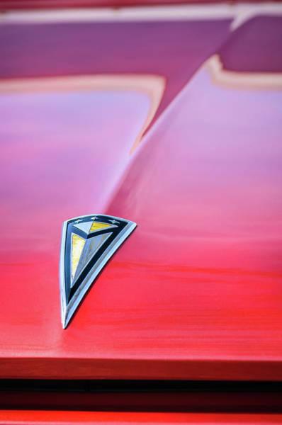 Photograph - 1961 Pontiac Catalina Hood Emblem by Jill Reger
