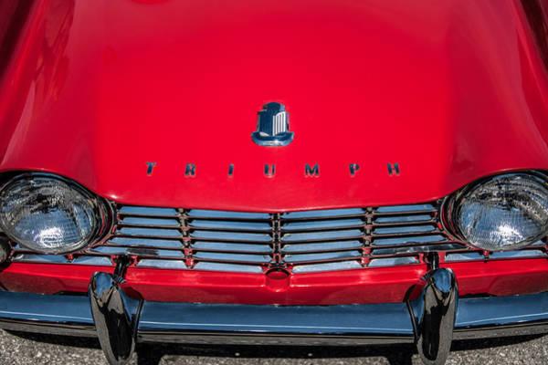 Photograph - 1961 Triumph Tr4 Hood Emblem - Grille -0620c by Jill Reger