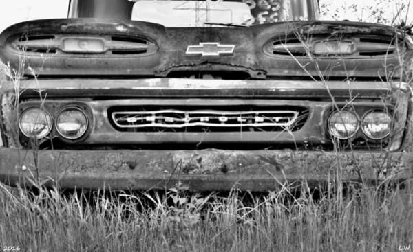 Photograph - 1961chevrolet Apache 10 Black And White by Lisa Wooten