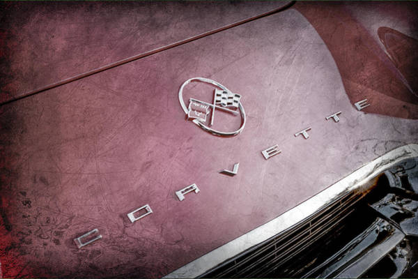 Wall Art - Photograph - 1962 Chevrolet Corvette Hood Emblems -0049ac by Jill Reger