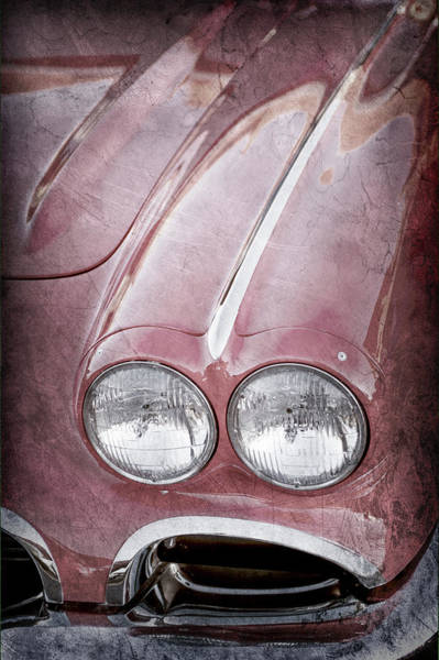 Wall Art - Photograph - 1962 Chevrolet Corvette Hood Emblems -0070ac by Jill Reger