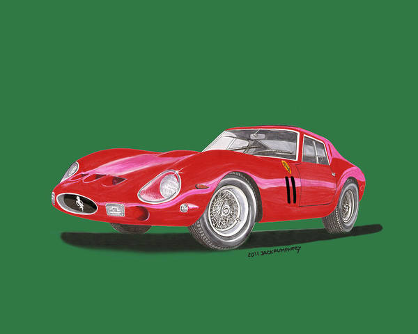 Similar Painting -  Ferrari G T O Especial by Jack Pumphrey