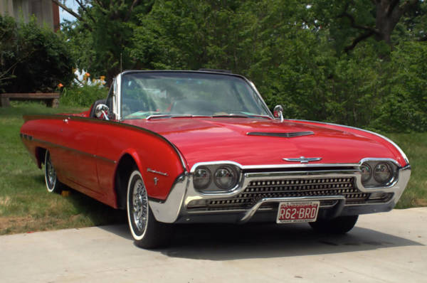 Photograph - 1962 Ford Thunderbird Sport Roadster Convertible by Tim McCullough