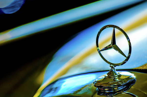 Photograph - 1962 Mercedes-benz 6.3 Liter 220se Cabriolet Hood Ornament by Jill Reger