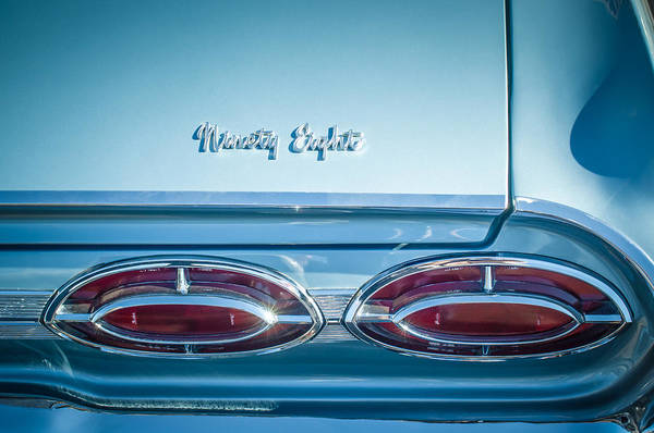 Tail Light Photograph - 1962 Oldsmobile 98 Tail Lights -0128c by Jill Reger