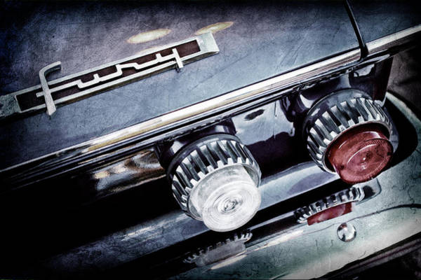 Wall Art - Photograph - 1962 Plymouth Fury Taillight Emblem -0458ac by Jill Reger