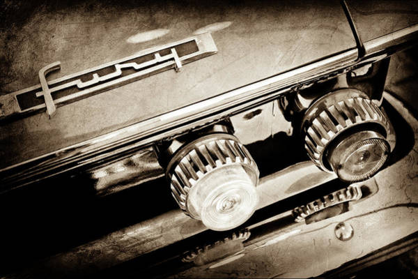 Photograph - 1962 Plymouth Fury Taillight Emblem -0458s by Jill Reger