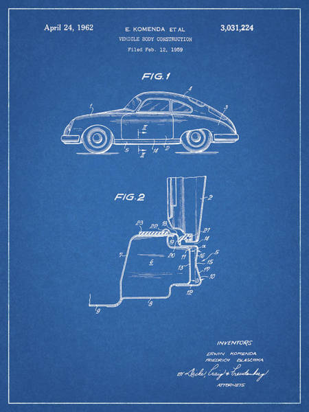 Fast Mixed Media - 1962 Porsche Body by Dan Sproul
