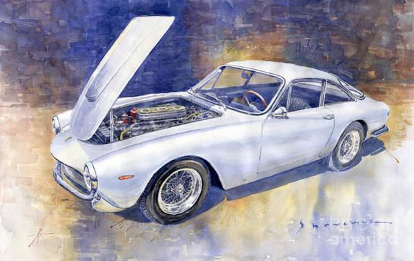 Wall Art - Painting - 1963-1964 Ferrari 250 Gt Lusso  by Yuriy Shevchuk