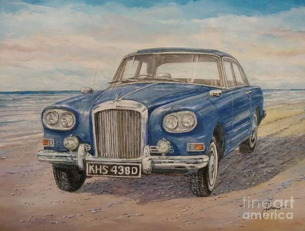 Painting - 1963 Bentley Continental S3 Coupe by Sinisa Saratlic