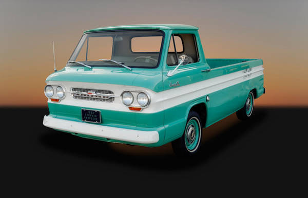 Corvair Photograph - 1963 Chevrolet Corvair 95 Rampside Truck - 1 by Frank J Benz