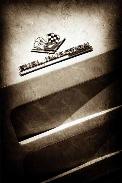 Photograph - 1963 Chevrolet Corvette Sting Ray Emblem -1602s by Jill Reger