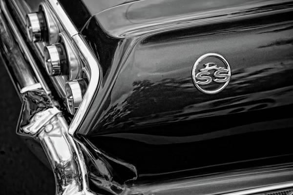Wall Art - Digital Art - 1963 Chevrolet Impala Ss Black And White by Gordon Dean II