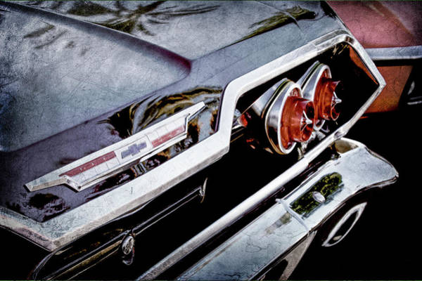 Wall Art - Photograph - 1963 Chevrolet Taillight Emblem -0183ac by Jill Reger