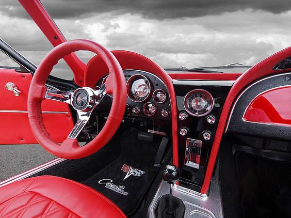 Photograph - 1963 Corvette Stingray Interior by Gill Billington