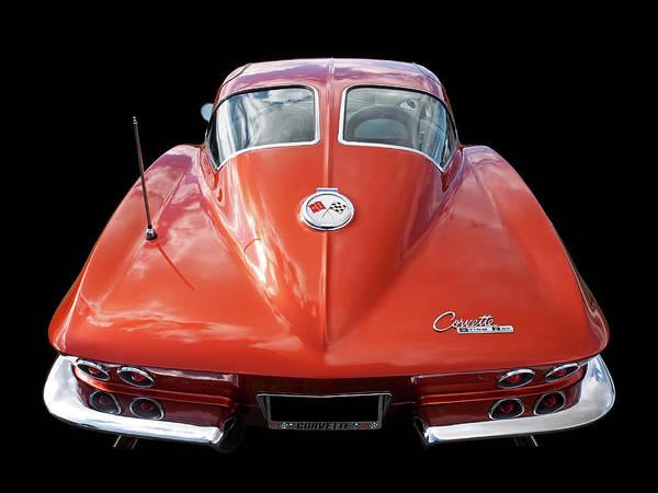 Photograph - 1963 Corvette Stingray Split Window Rear by Gill Billington