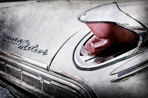 Photograph - 1963 Mercury Meteor Taillight Emblem -0070ac by Jill Reger