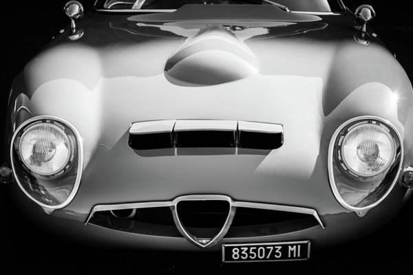 Photograph - 1964 Alfa Romeo Tz1 Grille -1494bw by Jill Reger