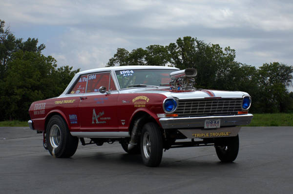 Photograph - 1964 Chevy II Dragster by Tim McCullough