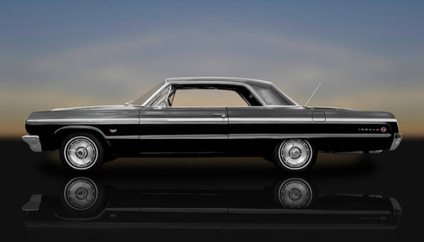 Wall Art - Photograph - 1964 Chevy Impala Super Sport Hardtop  -  1964chimp9591 by Frank J Benz