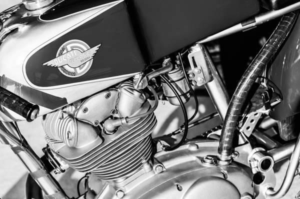 Wall Art - Photograph - 1964 Ducati 250cc F3 Corsa Motorcycle -2726bw by Jill Reger
