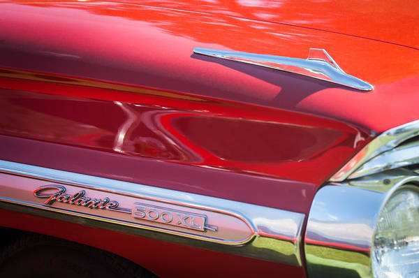Wall Art - Photograph - 1964 Ford Galaxie 500 Xl Emblem -0042c by Jill Reger