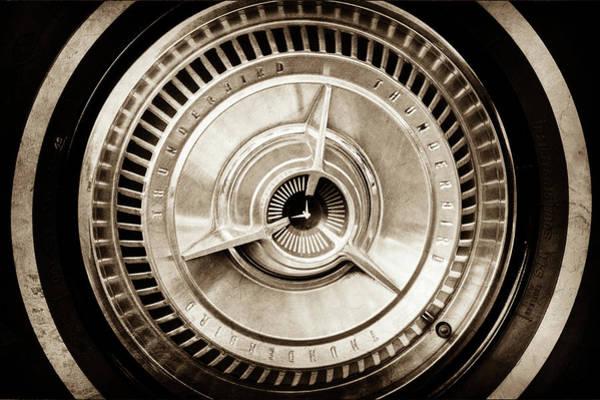 Wall Art - Photograph - 1964 Ford Thunderbird Wheel -0521s by Jill Reger