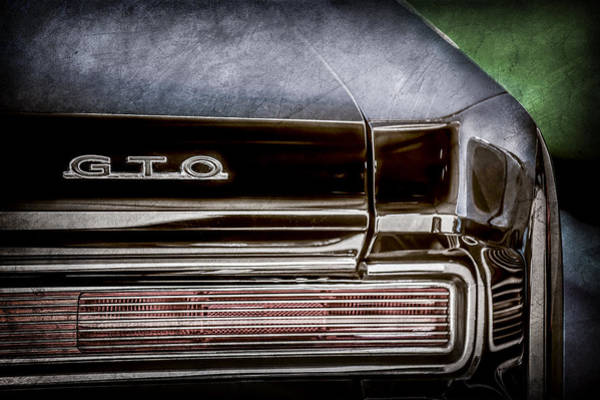 Wall Art - Photograph - 1964 Pontiac Gto Convertible Taillight Emblem -1039ac by Jill Reger