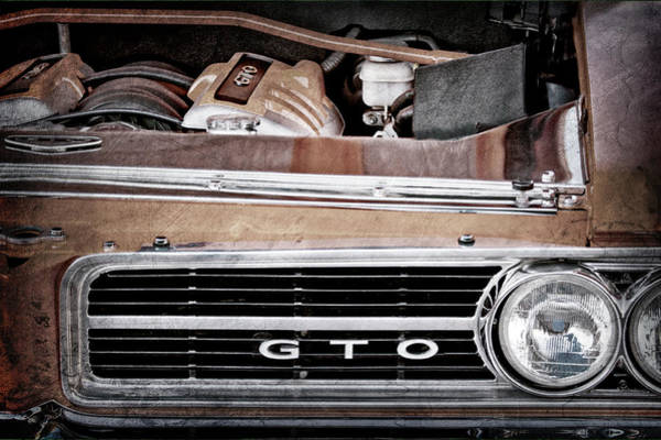 Wall Art - Photograph - 1964 Pontiac Gto Grille Emblem - Engine -936ac by Jill Reger