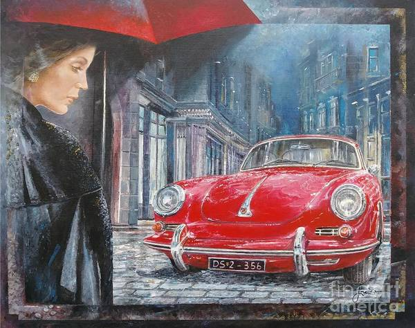 Painting - 1964 Porsche 356 Coupe by Sinisa Saratlic