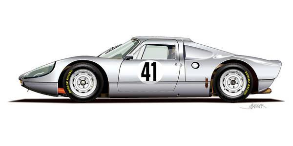 Wall Art - Digital Art - 1964 Porsche 904 Carrera Gts by Alain Jamar