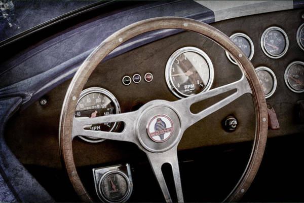 Wall Art - Photograph - 1965 Ac Cobra Steering Wheel Emblem -1216ac by Jill Reger