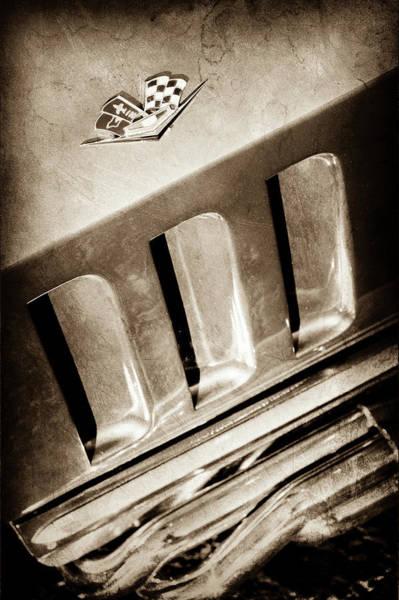 Wall Art - Photograph - 1965 Chevrolet Corvette Sting Ray Emblem -0410s by Jill Reger