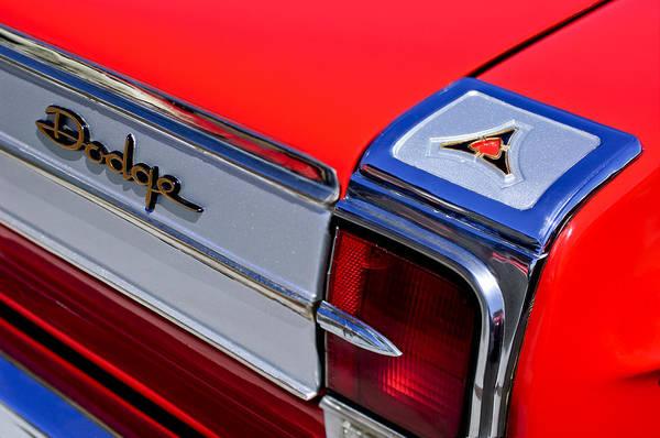 1965 Photograph - 1965 Dodge Coronet 500 Taillight Emblem by Jill Reger