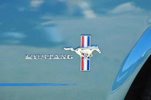 Photograph - 1965 Ford Mustang Emblem 6 by Jill Reger