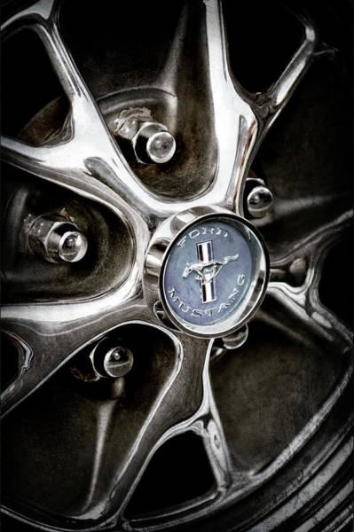 Wall Art - Photograph - 1965 Ford Mustang Wheel Emblem -0382ac by Jill Reger