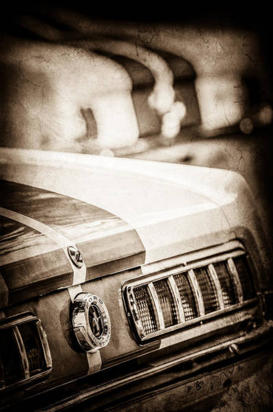 1965 Photograph - 1965 Ford Shelby Mustang Gt 350 Tail Light -1037s by Jill Reger