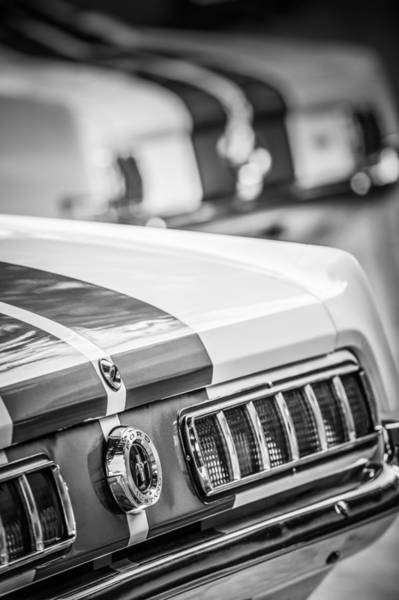 Photograph - 1965 Ford Shelby Mustang Gt 350 Taillight -1037bw by Jill Reger
