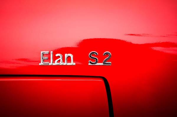 Photograph - 1965 Lotus Elan S2 Drop Head Side Emblem -1211c by Jill Reger