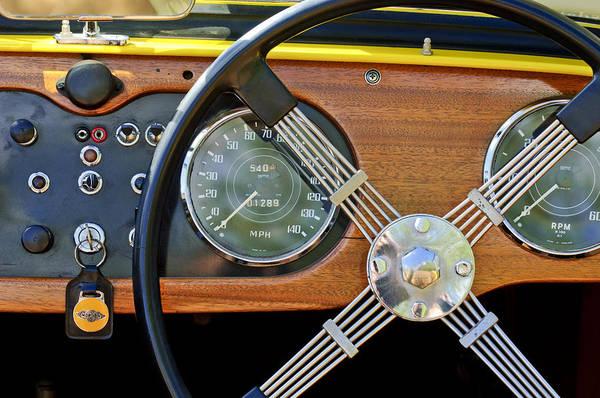 Photograph - 1965 Morgan Plus 4 Steering Wheel by Jill Reger