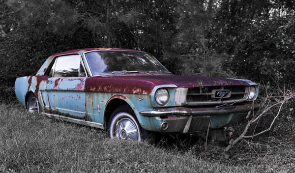 Down The Drain Wall Art - Photograph - 1965 Mustang Coupe - Better Days by Alicia Collins