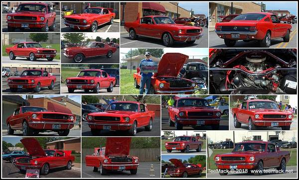 Photograph - 1965 Mustang Fastback Collage by Tim McCullough
