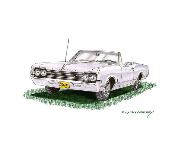 Wall Art - Painting - 1965 Oldsmobile Dynamic 88 Convertible by Jack Pumphrey